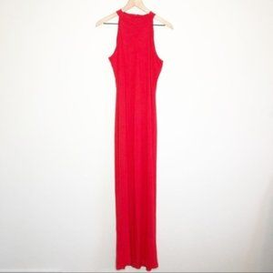New ASOS Petite Red Open Back Maxi Dress